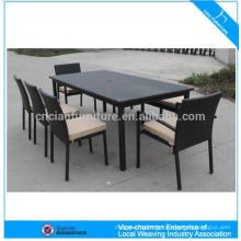Table à manger furntiure extérieure set table à manger en rotin et une chaise (CF982)