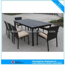 Outdoor furntiure dining table set rattan dining table and chair(CF982)