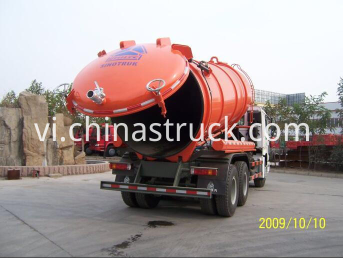 18M3 waste water suction truck