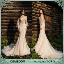Últimas vestidos de festa feminina vestidos de manga comprida vestidos sexy vestido de noite de sereia e sereia