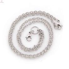 Nouvelles chaînes de cou d'arrivée pour des femmes, collier infini d'acier inoxydable