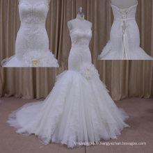 Robes de mariage de plage de cristal lourd d'automne