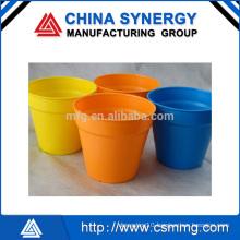 cheap color plastic flowerpot