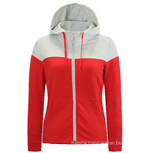 Plain Zipped up Single Color Women Hoodies in Bulk