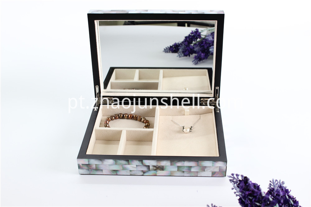 black mother of pearl jewelry box