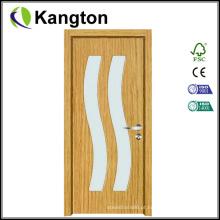 Porta de madeira interior do PVC de Moden com vidro (porta do PVC)