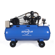 Fábrica fornecedor 150 litros 3 cilindro grande pistão itália acionado por correia compressor de ar industrial com roda