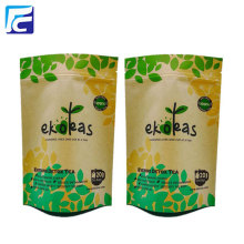 Recycled printed kraft paper tea packaging bag