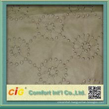 Fashion Popular Plain and Embroidery Micro Suede Fabrics for Sofa and Car Seat Cover