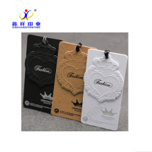 Customized color wholesale custom garment tag, eco-friendly or customized clothing hang tag,jeans hang tag