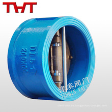 hierro dúctil de resorte de doble placa una válvula de mariposa aire de válvula de retención