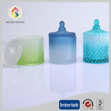 New design beautiful crystal candle jars with lids