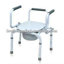 Swivel Armrest and Hight Adjustable Commode Chair