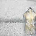 Invory Wedding Fabric Africa Beaded Lace