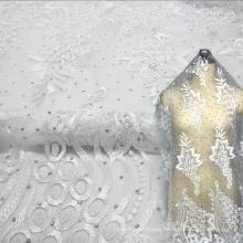 Invory Wedding Fabric Africa Beaded Lace