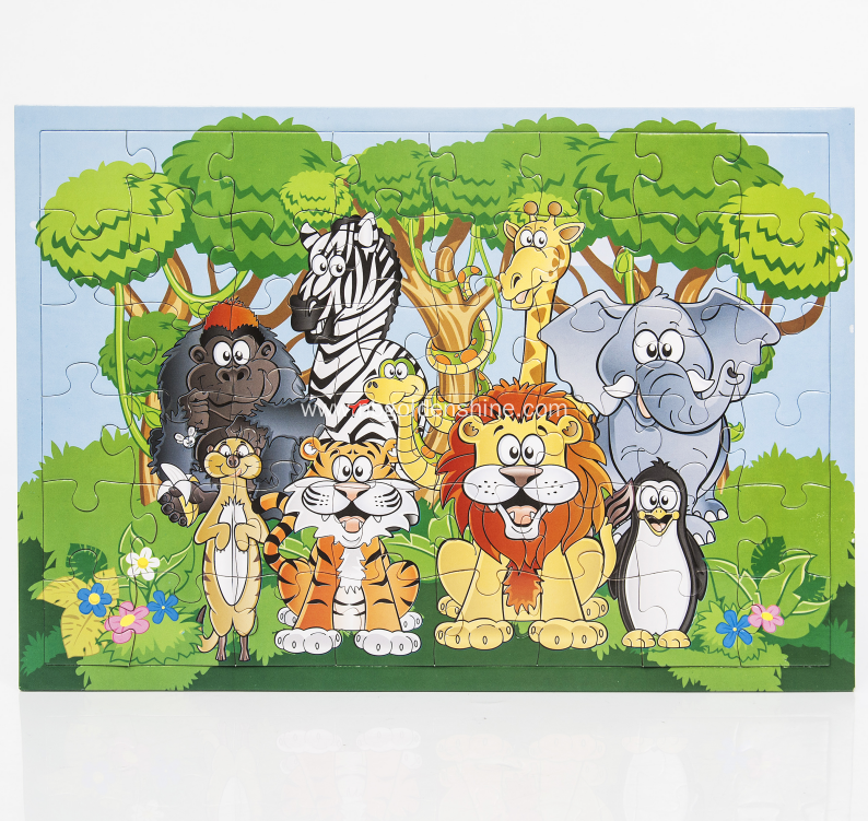 Paper Jigsaw Animal Puzzle