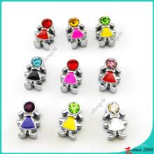 Coloré émail en pierre Boys Girls Slide Charms pour les enfants (SC126041906)