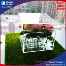Chinese Acrylic Brand Lower Price Flower Box with Lid