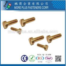 Hecho en Taiwán Acero inoxidable Acero al carbono Clase de latón Class4.8 máquina tornillo de la máquina