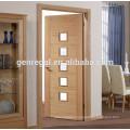 CE Modern glass bathroom MDF Wood door
