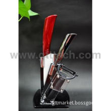 2012 New Ceramic Knife Set with Acrylic Block Kitchen Knives Set