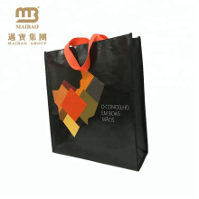 Custom Logo Print Reusable Tote Shopping Fabric Laminated Cheap Nonwoven Bags