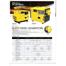 Hot vente air refroidi groupe électrogène diesel 3kw 5kw