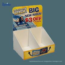 Exhibición contraria del libro de la cartulina al por menor / soportes de exhibición del libro de la encimera del cartón / mostradores de exhibición del libro de la cartulina
