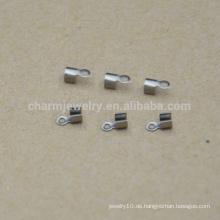 BXG034 Qualitätsgroßverkauf preiswerter Edelstahlschnurendclip Schmucksache-Entdeckungen u. Bestandteile
