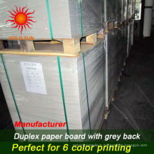 300gsm coated duplex board wiht ivory back,folding board box ivory board,cast coated paper board