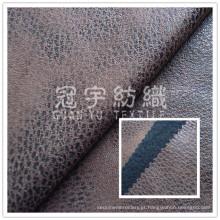 Tecido de poliéster de couro falso para Slipcovers