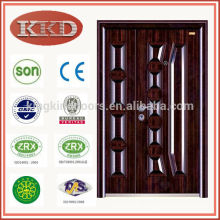 Mother and Son Steel Entry Door KKD-569B for Residential Security