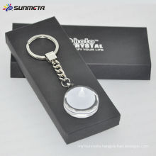 Sublimation blank crystal keychain with white coating good for promotion brithday gift
