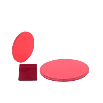 25.4/33/47mm HB/KC red color glass lenses longpass filters
