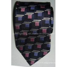 Cravate en jacquard tissé en soie pour hommes à la mode