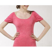 Ladies Seamless Hubble Bubble Sleeve Jacquard T Shirts