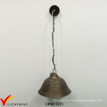 Retro metal ferro forma acessível Popular pendente iluminação