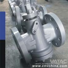 Válvula de enchufe lubricada invertida balanceada de presión