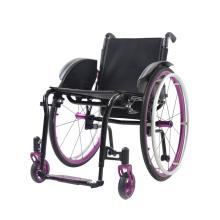 Cadeira de rodas dobrável de aço manual de peso leve para idosos