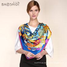 Bufanda de seda de calidad superior de la impresión de la insignia de la nueva venta caliente del diseño