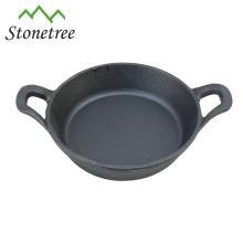 Mini poêle à oeuf en fonte d'huile végétale avec poignée / Skillets / Batterie de cuisine / Casseroles à rôtir