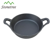 Чугунная сковорода с растительным маслом, мини-яйцом, с ручкой, сковородками, посудой и сковородками