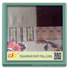 Tissu Super Soft Sofa avec traitement d'impression