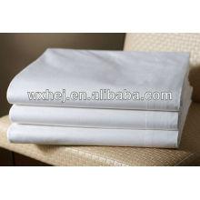 100% Polyester Mikrofaser weißes Hotel Bettlaken flaches Blatt