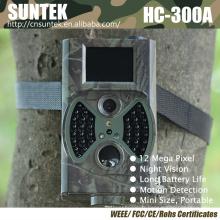 Appareils-photo extérieurs de traînée de cerfs communs de 12MP avec le flash noir HC300A
