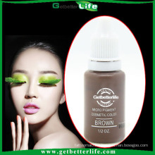 2015 getbetterlife 23 color 1/2 eyebrow tattoo ink/eyebrow pigment embroidery/eyebrow tattoo ink permanent makeup ink