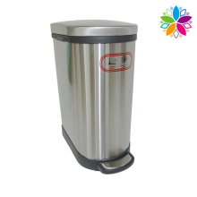 Stainless Steel Foot Pedal Slow Down Close Dustbin (A5-SA-10L)