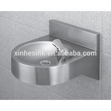 Lavabo de montaje en pared de acero inoxidable, fregadero de lavado de manos comercial