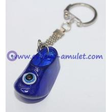 Blue evil eye  resin shoes keychain evil eye materials wholesale