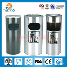 201 stainless steel trash cans for recycling, steel waste bins standing